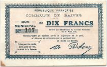 France 10 Francs Baives Commune - 1915