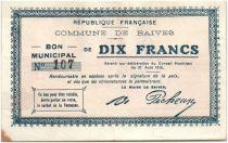 France 10 Francs Baives Commune - 1915