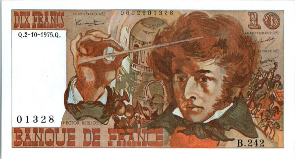 France 10 Francs Berlioz - 02-10-1975 Serial B.242