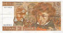 France 10 Francs Berlioz - 03-07-1975 Serial J.207 - F+