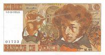 France 10 Francs Berlioz - 03-10-1974 Serial M.86 - XF+