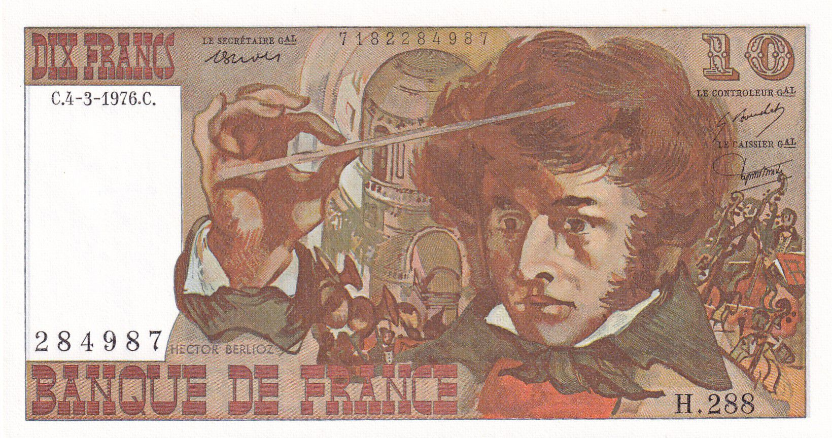 France 10 Francs Berlioz - 04-03-1976 Série H.288 - NEUF