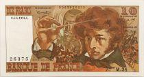 France 10 Francs Berlioz - 04-04-1974 Serial M.34 -  VF to XF
