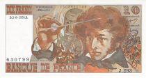 France 10 Francs Berlioz - 05-08-1976 Serial J.293 - AU