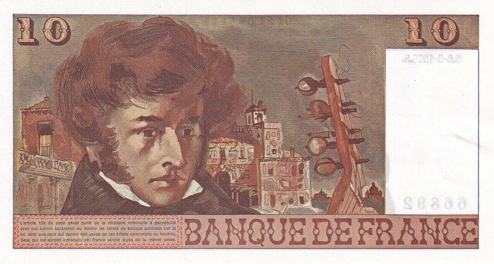 France 10 Francs Berlioz - 06-03-1975 Série V.169 - SPL