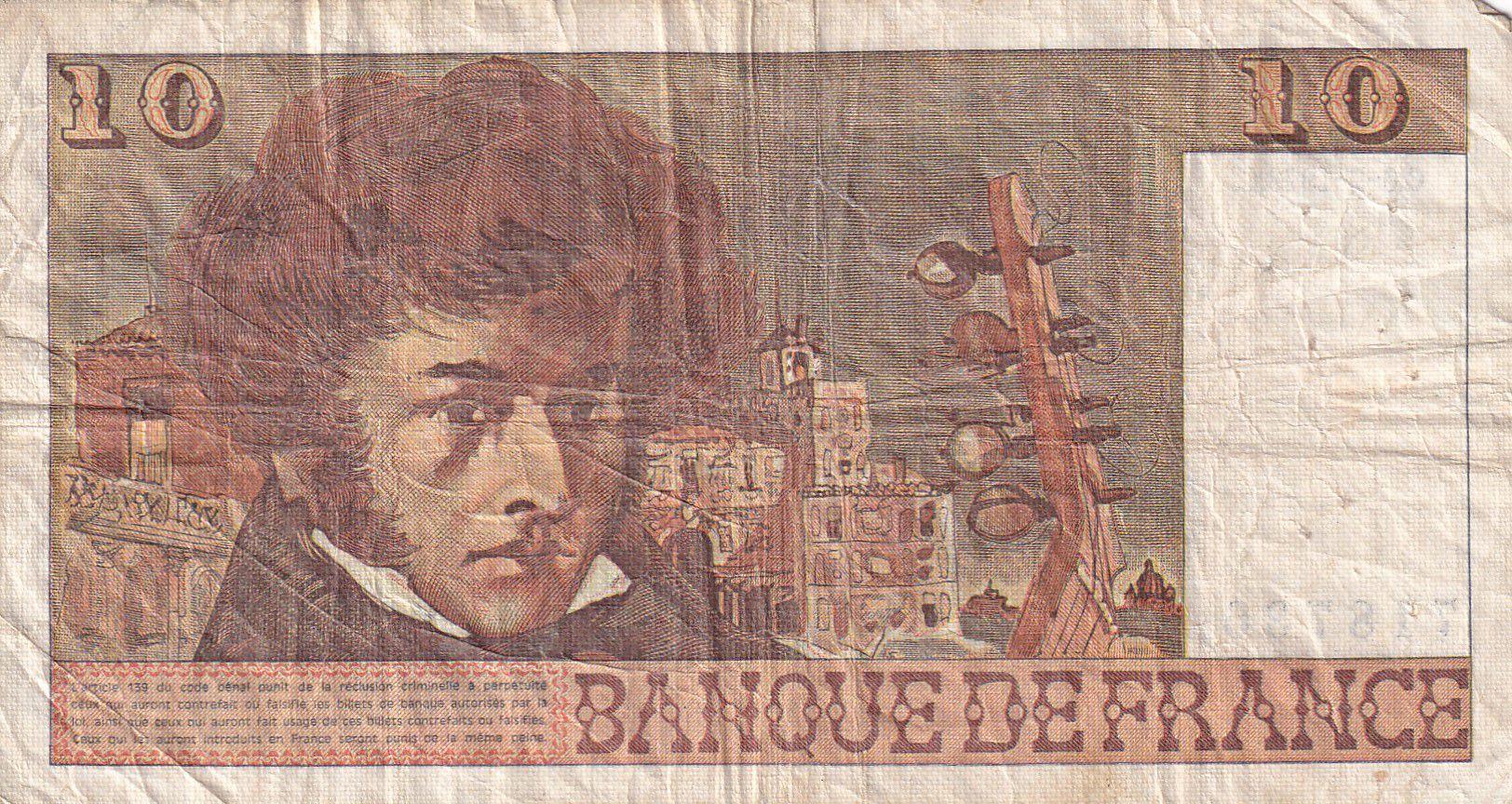 France 10 Francs Berlioz - 06-07-1978 Série Z.306 - TB