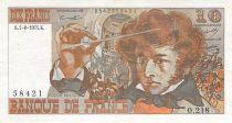 France 10 Francs Berlioz - 07-08-1975 Serial J.207 - VF