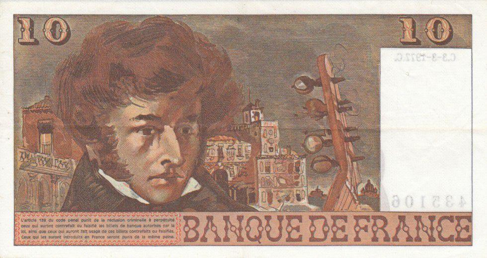 France 10 Francs Berlioz - années 1972 à 1978