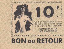 France 10 Francs Bon de Retour - Croix-Rouge - 1945