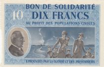 France 10 Francs Bon de Solidarité - 1941-1942 Serial B - WWII