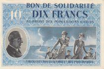 France 10 Francs Bon de Solidarité - WWII - 1941-1942