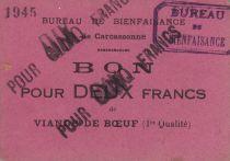 France 10 Francs Carcassonne 10 Frs de viande de boeuf