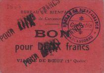 France 10 Francs Carcassonne Bon pour 10 Frs de viande de Boeuf
