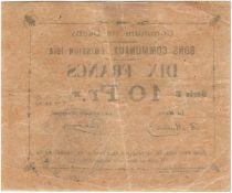France 10 Francs Dechy City - 1914