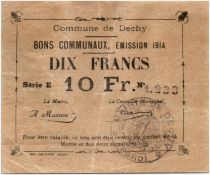 France 10 Francs Dechy Commune - 1914