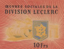 France 10 Francs Division Leclerc - 1944 - WWII