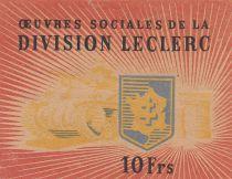 France 10 Francs Division Leclerc - 1944