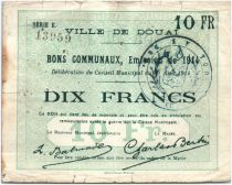 France 10 Francs Douai City - 1914