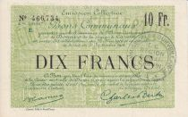 France 10 Francs Douai City - 1916
