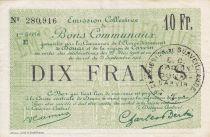 France 10 Francs Douai Commune - 1916