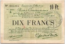 France 10 Francs Douai Commune - 1916