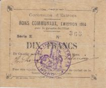 France 10 Francs Estrée City - 1914