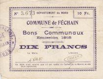 France 10 Francs Fechain City - 1915