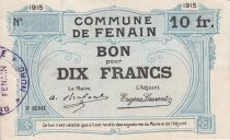 France 10 Francs Fenain City - 1915