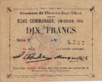 France 10 Francs Flers-En-Escrebieux City - 1914