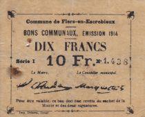 France 10 Francs Flers-En-Escrebieux Commune - 1914