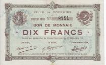 France 10 Francs Fourmies City - 1915