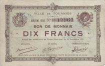 France 10 Francs Fourmies City - 1915
