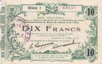 France 10 Francs Fourmies City - 1916