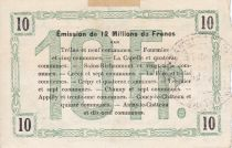 France 10 Francs Fourmies City - 1916