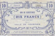 France 10 Francs Fourmies City