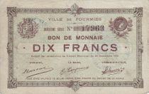 France 10 Francs Fourmies Commune - 1915