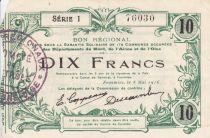 France 10 Francs Fourmies Ville - 1916