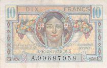 France 10 Francs French Treasury - 1947 - Serial A - F+