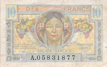 France 10 Francs French Treasury - 1947 - Serial A - F