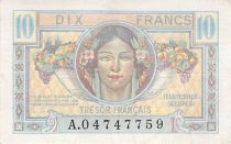 France 10 Francs French Treasury - 1947 - Serial A - VF