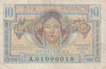 France 10 Francs French Treasury - Occupied Territory 1947 - F+