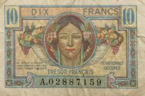 France 10 Francs French Treasury - Occupied Territory 1947 - F