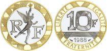France 10 Francs Génie - 1988 Epreuve OR 12g Frappe BE