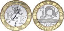 France 10 Francs Génie 1989 - FDC Bimétal