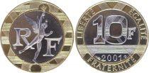 France 10 Francs Génie de la Bastille - 2001 BU