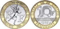 France 10 Francs Genius - UNC - Bimetal