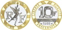 France 10 Francs Genius 1988 Proof in Gold 12g