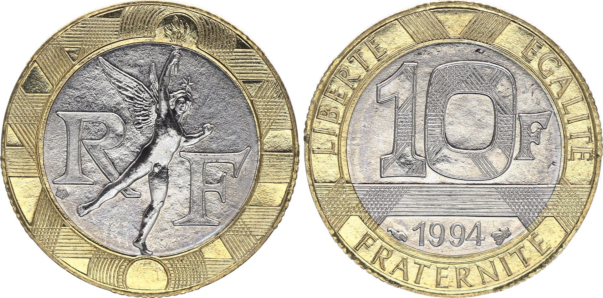 France 10 Francs Genius 1994 - bee UNC