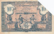 France 10 Francs Groupement Commercial Roannais - 1945 - TTB
