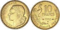 France 10 Francs Guiraud - 1951 B